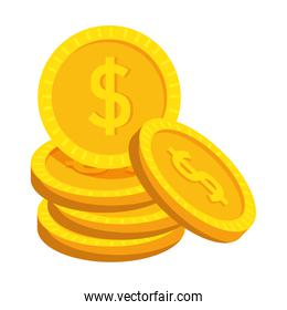 coins cash money dollars icon