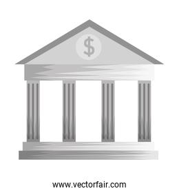 bank building financial isolated icon