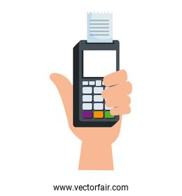 hand with voucher machine electronic commerce