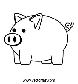 piggy savings financial isolated icon
