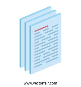 paper document files isolated icon