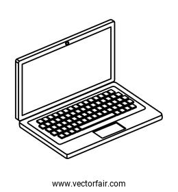 laptop computer device isolated icon