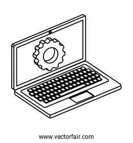 laptop computer device with gear settings