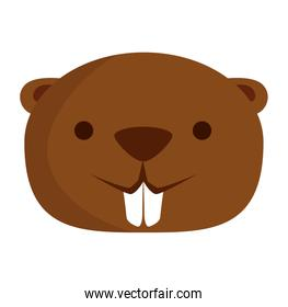 cute beaver mascot animal icon