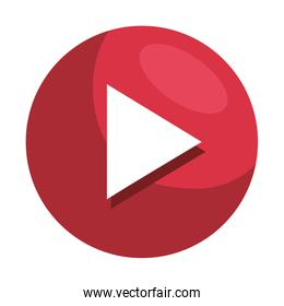 play button media player icon