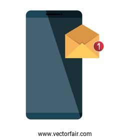 smartphone technology with envelope email