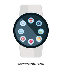 smartwatch weareable with applications menu