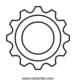 gear machine settings isolated icon
