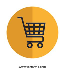 shopping cart commercial isolated icon