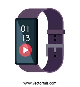 smartwatch with media player button