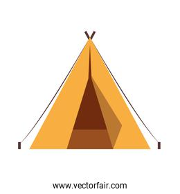 tent camping accessory isolated icon