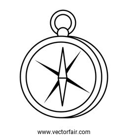 compass guide device isolated icon