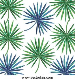 exotic and tropical leafs plant pattern