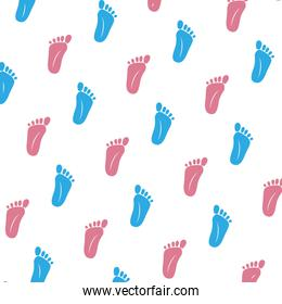 foot prints baby shower pattern