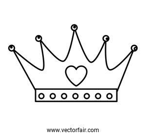 crown queen with heart icon