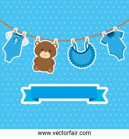 cute baby boy postcard set items hanging