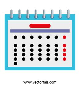 calendar date reminder isolated icon