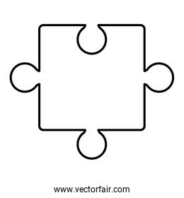 puzzle game piece solution icon