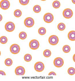 delicious sweet donuts pattern background