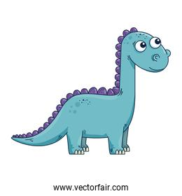 cute diplodocus comic character icon