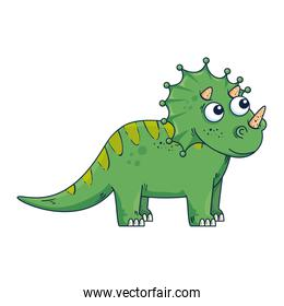 cute triceratops comic character icon