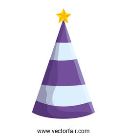 party hat with star decorative icon