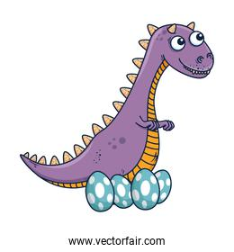 mother tyrannosaurus rex care of their eggs comic character