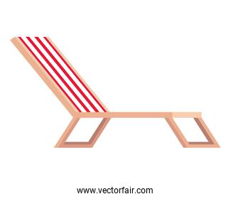 beach chair confort isolated icon