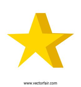 star award element isolated icon