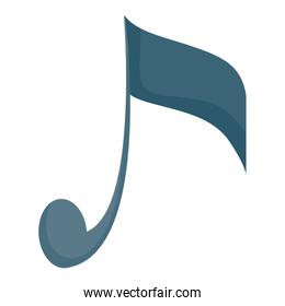 music note figure isolated icon