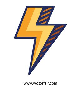 power thunder electric ray icon over white