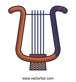 harp musical instrument isolated icon