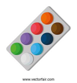 paint colors pallette isolated icon