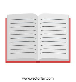 text book open school supply icon