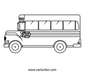 school bus transport isolated icon