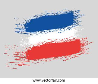 french flag colors country painted