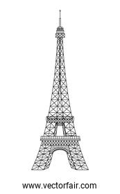 tower eiffel structure french icon