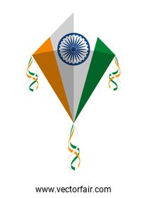 kite flying with indian flag country