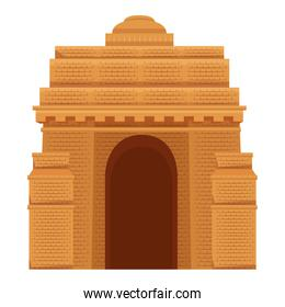 indian gate arch monument icon