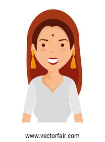 beautiful woman from india character