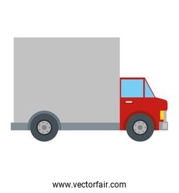 delivery service truck red vehicle icon