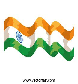 indian flag country isolated icon