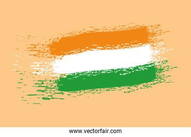 indian flag country painted icon