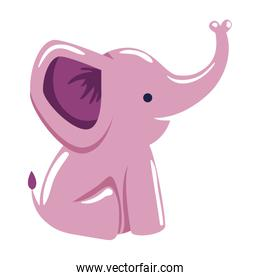 cute little elephant pink character