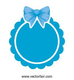 lace with bowtie decorative icon