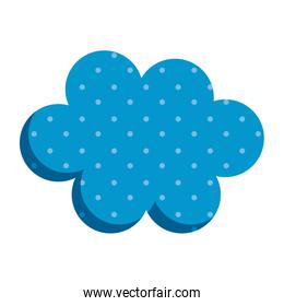 cute cloud sky decorative icon
