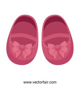 cute little girl shoes icon