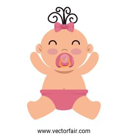 cute little baby girl character