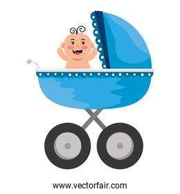 baby cart with little boy character
