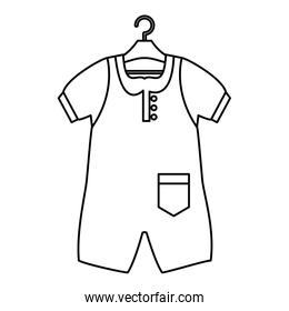 baby clothes fashion isolated icon